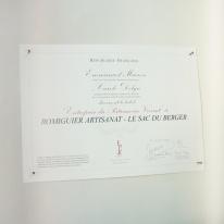 L'atelier du Sac du Berger est labellisé Entreprise du Patrimoine Vivant.